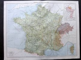 Gross 1920 Large Map. France & Switzerland